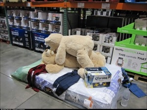My buddy decided to have some fun inside Costco with a mattress