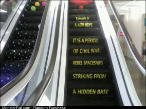 Star Wars escalator