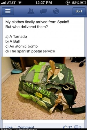 A tornado or the Spanish postal service FB