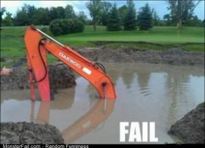 Fail dig A Hole