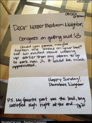 Funny Pics Dear Neighbor