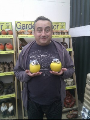 My dad ran up to me in the garden centre yesterday and asked me to take a photo of his