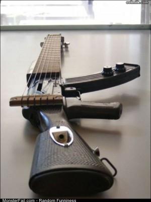 Funny Pics Guitar Gun