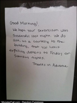 Sexorcism its a thing