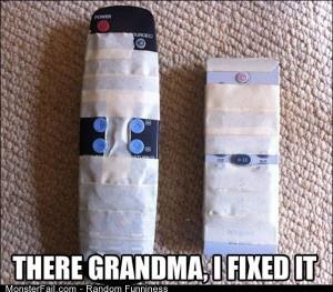 Funny Pics Grandma Remote
