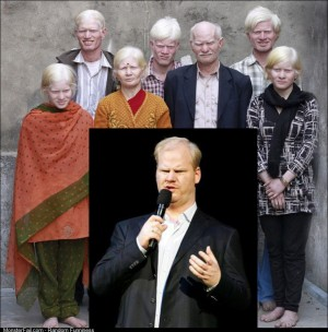 All I Could Think of When I Saw the Albino Indian Family is Missing Cousin Jim