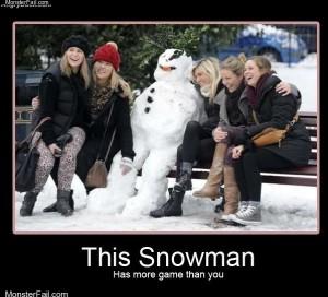 This snowman