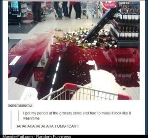 Period in a grocery store