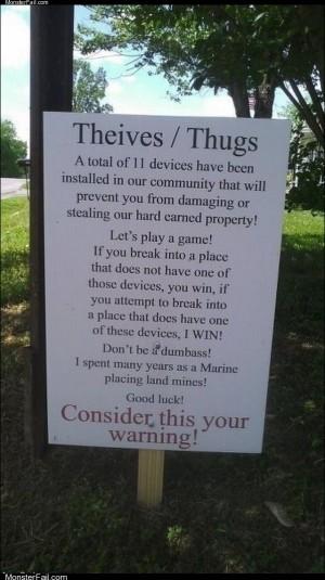 Dear thieves