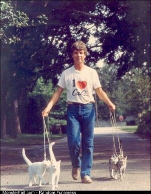 Funny Pics Dude Loves His Cats