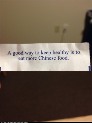 Found this in my fortune cookie the other day