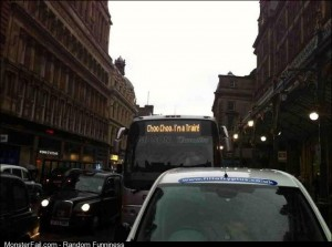 A bus driver with a sense of humour Rail bus service in Glasgow