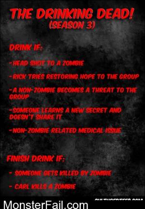 Walking Dead Season 3 Drinking Game