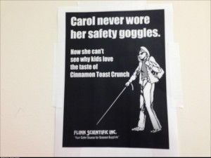Poor Carol posted in my lab