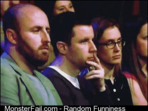 Socially Awesome Audience Member