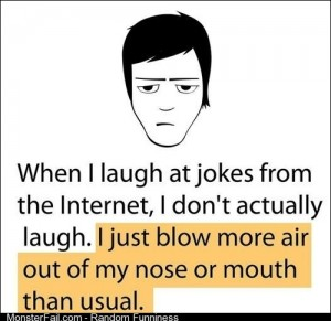 How I Laugh At Jokes On The Internet