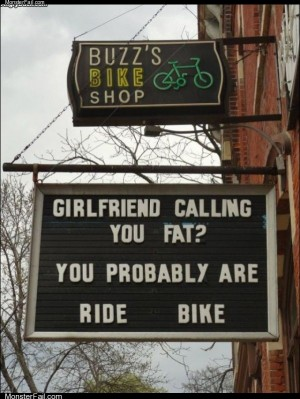 Ride a bike fatty
