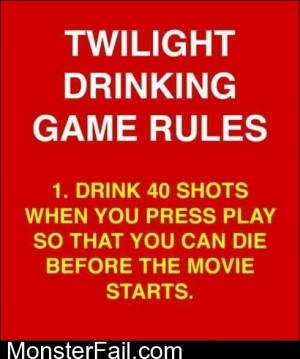 Twilight Drinking Game