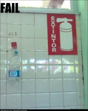 Fail extintor