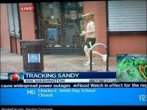 Funny Pics Tracking Sandy
