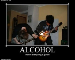 Alcohol guitars