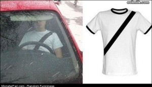 Funny Pics Seatbelt Shirt