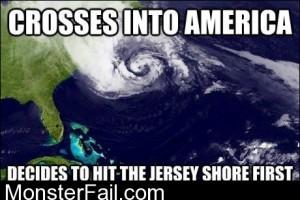 Sandy Doesnt Like Jersey Shore