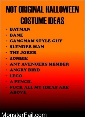 Not Original Halloween Costume Ideas