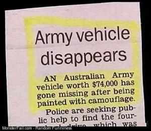 Military Fail