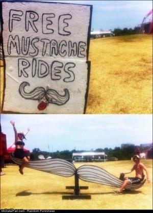 Funny Pics Free Mustache Rides