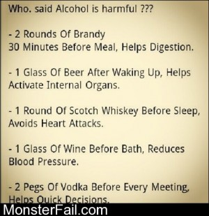 Who Said Alcohol Is Harmful