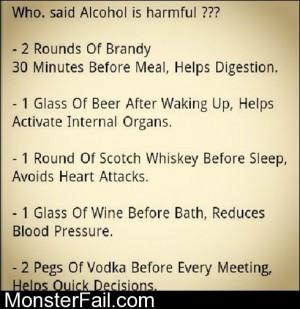 Who Said Alcohol Is Harmful