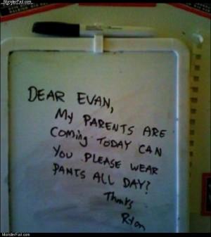 Dear evan