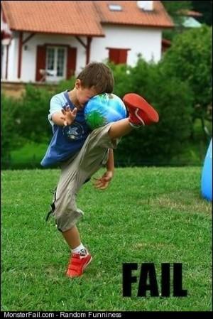 Kickball fail