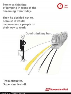 Funny Pics Train Etiquette