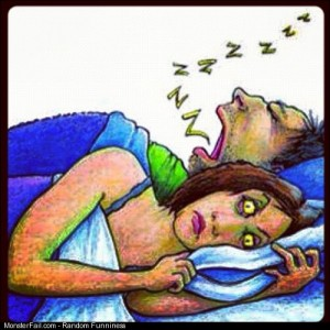 If you snore so bad that keeping her awake sleep on your side or stomach or undergo The Pillar Just make her take a knife to your throat couples sleep snore snoring murder Visit Grustle for more General Knowledge and laughter at Home
