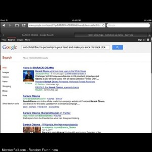 Barack obama vote google lol