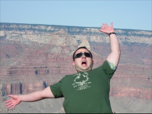 I asked a lady to take a picture of me at the Grand Canyon she find this to be as funny as I did