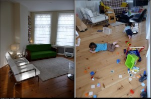 User house before and after kids