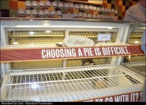 Choosing A Pie