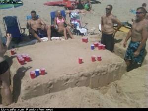 Funny Pics Cool Beach Setup