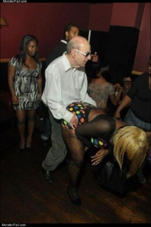 Grandpa getting down