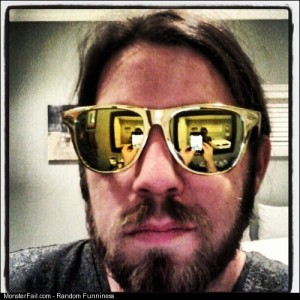 Sometimes I roll hard in the gold Lol shades beards lol rockstar