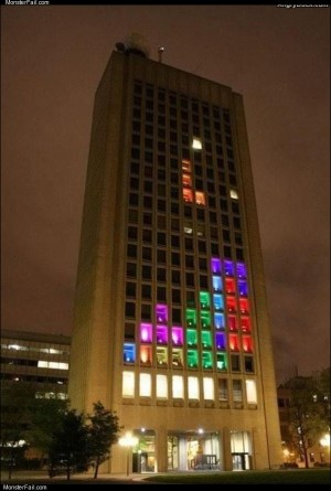 Cool tetris building