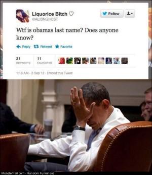 Funny Pics Obamas Last Name