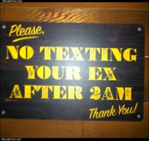 No texting please