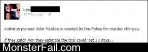Wanted McAfee