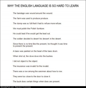 Funny Pics Why English Is Hard