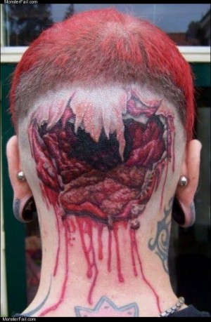 Brains removed tattoo