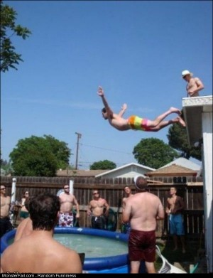 Funny Pics Monster Belly Flop